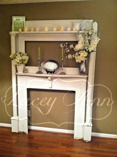 Finally Got an antique mantle for my dining room...