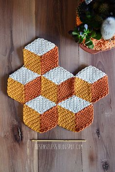 This is amazing!! Check out the free pattern on Ravelry - Vasarely pattern http://www.ravelry.com/patterns/library/vasarely-blanket