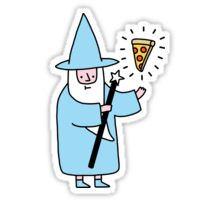 Pizza Wizzard Sticker