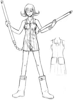 View an image titled 'Selphie Tilmitt Sketch' in our Final Fantasy VIII art gallery featuring official character designs, concept art, and promo pictures. Character Model Sheet, Game Character Design, Character Modeling, Character Creation, Character Art, Final Fantasy Characters, Final Fantasy Art, Fantasy Series, Female Characters
