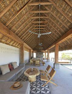 Casa Cal, designed by Alfonso Quiñones of Mexico City studio Baaq. Near Puerto Escondido, Oaxaca. Photo © Edmund Sumner