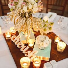 amazing receptions with candles - Google Search
