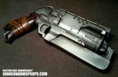 Custom Nerf Hammershot in Steel by JohnsonArms on @DeviantArt