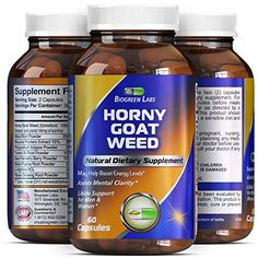 Horny Goat Weed Complex  1000 mg Pure Horny Goat Weed Extract with Tongkat Ali Root Powder  100 Pure and Natural Maca Root Extract  Pharmaceutical Grade Maca Root Powder  Effective and Potent Herbal Supplement for Increased Stamina  Rapid Release Capsule Improves Energy Levels and Stamina  Made in the USA  Guaranteed by Biogreen Labs *** Want additional info? Click on the image.