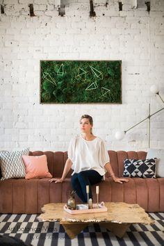 Lush, vibrant, and calming moss art by Art Botanica. Moss Wall Art, Moss Art, Green Wall Art, Green Art, Forever Green, Live Plants, Dried Flowers, Preserves, Indoor