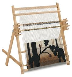 Tapestry loom http://pinterest.com/source/dickblick.com/    I love this loom....want to look for one like this after I practice on my potholder loom.