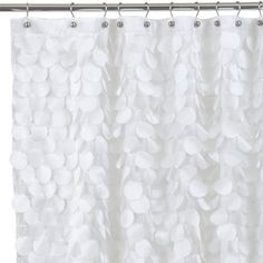 White Ruffle Shower Curtains Are Very Feminine And Will Match Any Wall Color
