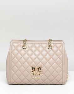 9ccdb99b594e9 Love Moschino Quilted Logo Bag