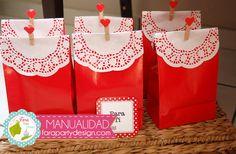 Hermosas bolsas de regalos por Fara Party Design #favor #bags #party #craft #manualidad #fiesta #bolsas #regalos