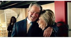 The prominent politicians, who served under controversial Bush governments, support Hillary Clinton for her military policies and out of fear of Donald Trump.