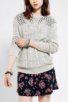 Coincidence & Chance Marled Cable-Knit Pullover Sweater  #urbanoutfitters
