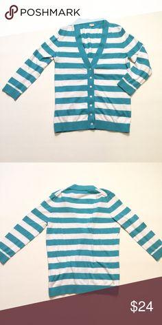 "J.  Crew Cotton Cardigan Size medium. Bust approx 33"" length approx 22"" arm length approx 17"". 100% cotton J. Crew Sweaters Cardigans"
