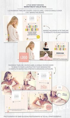 Marketing Kit {Value Pack} - Photoshop Templates for photographers (MKDM6) - INSTANT DOWNLOAD