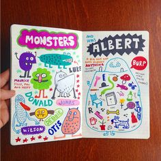 Elise Gravel illustration • Doodles • Art • sketchbook • journal. • sketch • monsters • cute • drawing • creativity