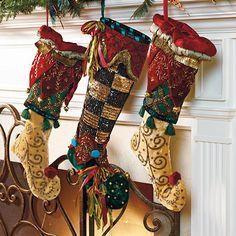 Woodland Green Christmas Stocking