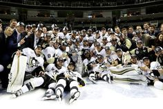JUNE 12: The Pittsburgh Penguins celebrate after their 3-1 victory to win the Stanley Cup against the San Jose Sharks in Game Six of the 2016 NHL Stanley Cup Final at SAP Center on June 12, 2016 in San Jose, California