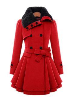Plus Size Women's Faux Fur Lapel Lined Parka Coats Outdoor Winter Long Jacket,Color: Camel ,Size-XXL