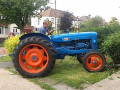 Blue 1954 Fordson | Ford Tractors & Equipment | Pinterest ...