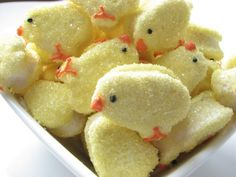 Tiny marshmallow chicks!
