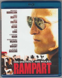"""RAMPART (2011): Blu-ray Disc, Millennium Entertainment ME-13556, Blu-ray Release: 2012, Region 1, Rated R, 107 mins, 2.35:1 Widescreen (16 x 9, 1080P High Def), Audio: 5.1 Dolby TrueHD, Subtitles: English & Spanish, Special features: Director's commentary track, """"Behind The Scenes"""" feature and previews, Plastic Keep Case. Directed by Oren Moverman. Starring Woody Harrelson, Ned Beatty, Ben Foster, Sigourney Weaver, Anne Heche, Robin Wright, and Cynthia Nixon. $3"""