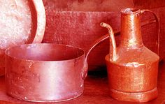 Ollas, vasijas, teteras...de cobre, Antigüedades Carroza