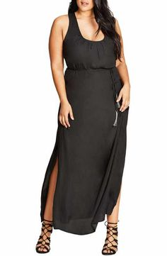 City Chic Knot Back Maxi Dress (Plus Size)