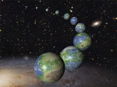 Illustration of Earth-like planets