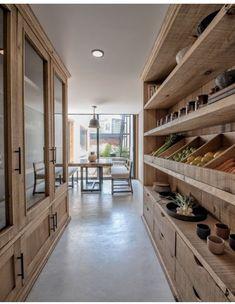 The dream kitchen storage 😍 Kitchen Pantry Design, Home Decor Kitchen, Kitchen Interior, Home Interior Design, Home Kitchens, Kitchen Storage, Pantry Shelving, Kitchen Pantry Cabinets, Kitchen Ideas