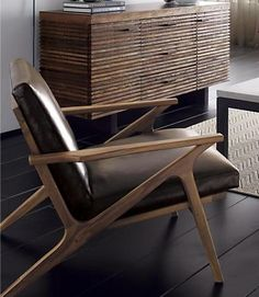 Two of these please! Cavett Leather Chair #design #creative