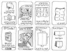 Doctor Popular has created a wonderful step by step tutorial on how to make your own mini-comics, a guide to printing, cutting and folding a comic into an Make A Comic Book, Comic Books, Make Your Own Superhero, Comic Template, Novel Tips, Comic Tutorial, Comic Layout, Cool Journals, Cartoon Books