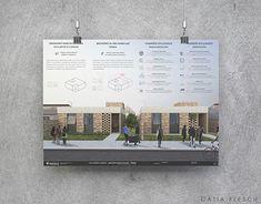 Presentation Board Design, Portfolio Presentation, Architecture Board, Architecture Design, Social Housing, Portfolio Layout, Autocad, New Work, Behance