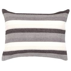 PCH Montego Stripe Gray Chenille Pillow Sham @Zinc_Door