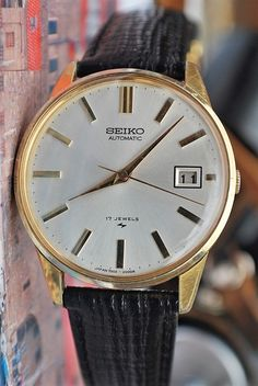 2377c450665 Seiko Automatic Calibre 7005A W Date Vintage Mens Pre-Owned Watch 1970 s.