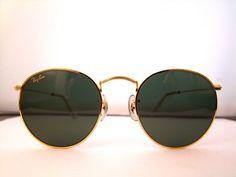 Rare RAY BAN Round Sunglasses  USA 1980s John by ifoundgallery, $185.00