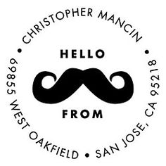 this is happening to stationary near you: Moustache Custom Stamp - PS design