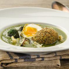 Brokkoli Suppe mit gebackenem Ei Eggs, Breakfast, Food, Cooking Eggs, Fresh, Food And Drinks, Morning Coffee, Egg, Meals