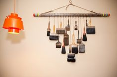 paint brushes as art...what if the tips were dipped in different colours as well? hmmm