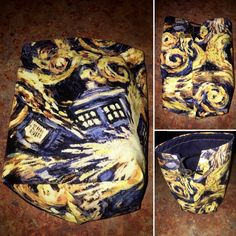 Doctor Who Exploding Tardis dice bag, drawstring bag, coin purse, pouch, whovian by subculturexglass on Etsy