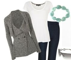 Nice charcoal cardigan...I will wear it with a nice turtleneck...