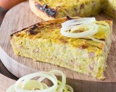Quiche sans pâte oignons et jambon toute simple (facile, rapide) - Une recette CuisineAZ