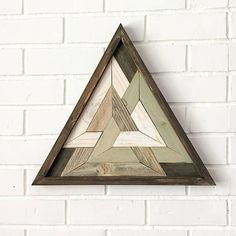 Santo triángulo triángulo madera reciclada Art Design
