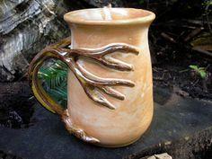 Tree mug for the nature love, 18 oz. coffee mug, tea mug, beer stein, functional handmade pottery