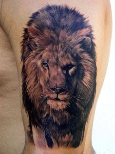 awesome lion tattoo  WOW