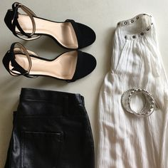 Trés Chic Top Super cute white sleeveless top just in time for summer. High low, with crushed cotton look. You'll live the eyelet neckline, close or open the neckline. Lucky  Brand silver bangles and faux leather leggings sold in separate listings. Bundle for 10% off and get a fabulous face mask for free when you spend $60  Mossimo Supply Co Tops Blouses