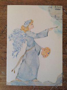 Questo angelo è una stampa da mio acquerello originale, è 10 x 15 cm