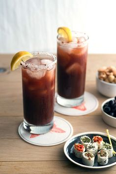 So you thought Bloody Mary's could only be made with vodka? Think again. This flavorful variation relies on red wine to bring depth to the drink. Recipe: Design Sponge   - ELLEDecor.com