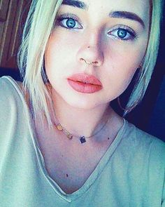 #nude #natural #makeup #thischinesefalsiessucks #blonde #polishgirl #septum