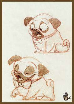 ArtStation - Pug Expression Exploration, Vipin Jacob