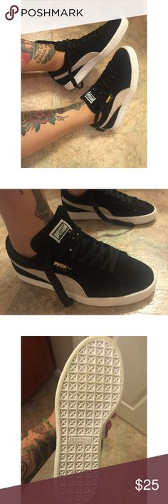 Puma Suede Original Puma suede sneakers as seen on Kylie Jenner, worn once, perfect condition. Size 6, with a little wiggle room. NO TRADES, PRICE IS FIRM. Puma Shoes Sneakers