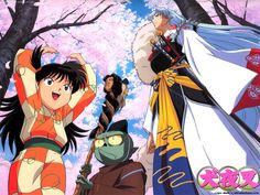 Inuyasha: One very remarkable thing about the artwork in Inuyasha is that no two kimonos are alike, and each is representative of a typical aspect of Japanese fabric design/pattern without being exact, detailed representations of typical patterns. Quite an achievement when you consider all of the different people Inuyasha and band encounter throughout the long-running series.